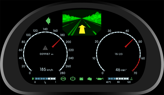 Automotive digital instrument cluster