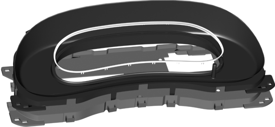 Fig. 3. Digital instrument cluster housing.