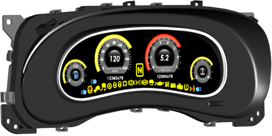 Jeep Digital Gauges : Digital instrument cluster for jeep wrangler — librow