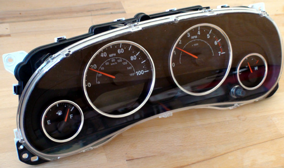 Fig. 1. Jeep Wrangler 2012 original instrument cluster.