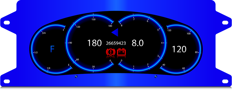 Fig. 9. Custom digital instrument cluster Laplace Z.