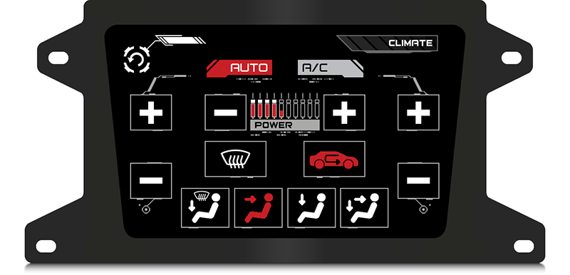 Fig. 20. Laplace Z virtual central console - climate control screen.